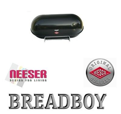 WESCO BREADBOY design BROTKASTEN zum pushboy SCHWARZ 222201-62 bread bin