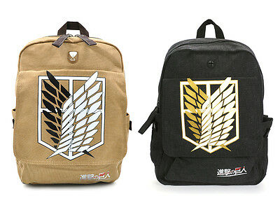 Attack on Titan Shingeki no Kyojin Leinen Rucksack Tasche Bag Backpack Cosplay