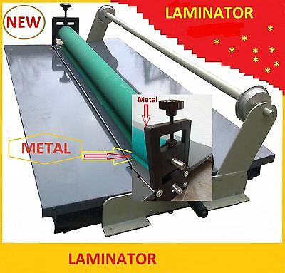 Manual Cold Roll Mount Laminator cold Laminator 39 inch with Bar silicone roller