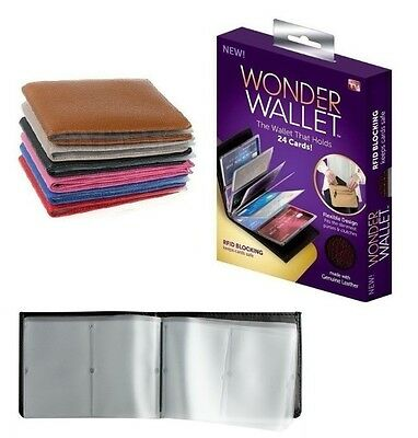 Genuine Wonder Wallet Slim RFID Wallet As Seen On PU Leather 24 Cards Colour