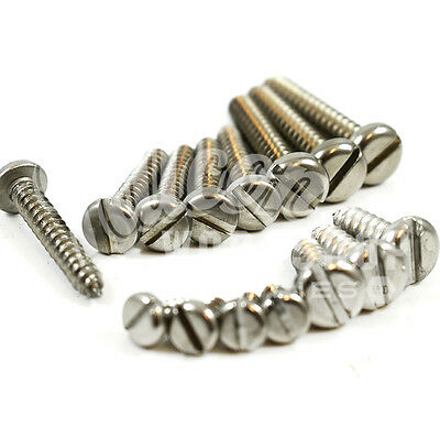 A2 STAINLESS STEEL 4g 6g 8g 10g 12g 14g SLOTTED PAN HEAD SELF TAPPING SCREW