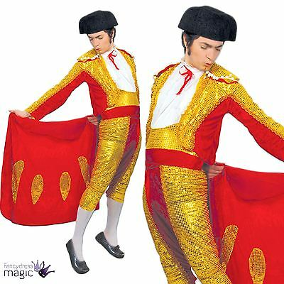 Adult Mens Mexican Spanish Matador Bullfighter Torero Fancy Dress Costume Outfit