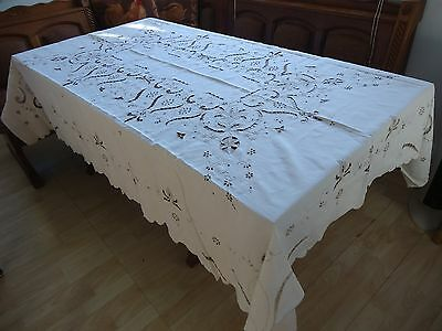 """Tablecloth Linen, 83X60"""",  Old, Elegant, Gorgeous, Free Shipping"""
