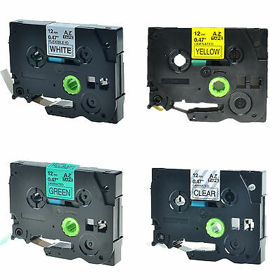 4PK TZ TZe 731 631 231 131 Label Tape For Brother P-Touch PT-E550W 12mm x 8m