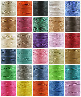 1mm FLAT WAXED NYLON CORD *30 COLOURS* CRAFTS JEWELLERY STRINGING -UK SELLER