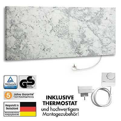 Marmony M800-0066 Carrara mit Thermostat Marmor Infrarot-Heizung Heizkörper