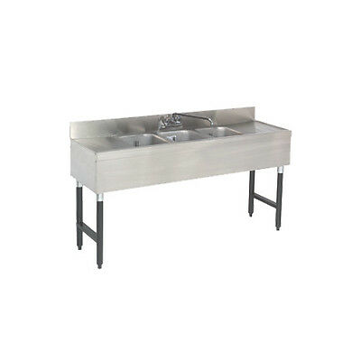 "Advance Tabco SLB-53C 3 Compartment 60"" Underbar Sink W/ Drainboard Left & Right"