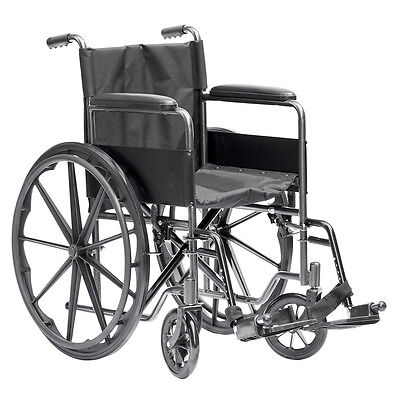 Self Propelled Silver Deluxe Wheelchair by Viva Medi