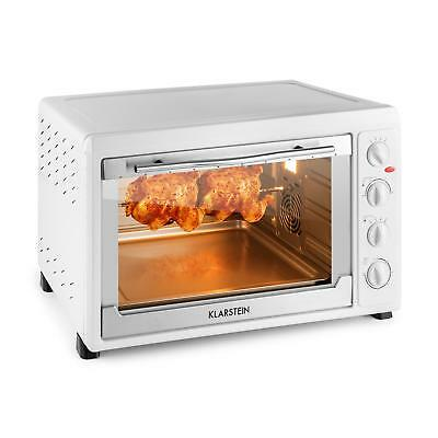 Klarstein Mini Kitchen Oven 2500 W 60 L Stainless Steel White Rotisserie Grill