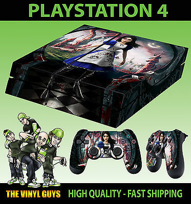 PS4 Skin Alice Madness Returns Vorpal Blade Sticker + Controller Decals LAY FLAT