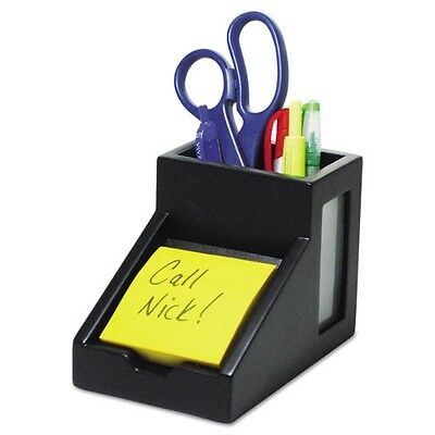 Victor Midnight Black Collection Pencil Cup with Note Holder - 95055