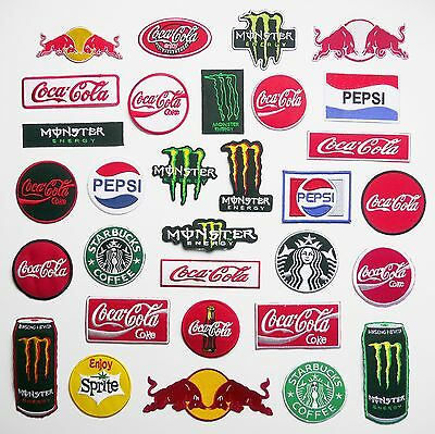 DRINK - Cola, Coffee, Caffine- Any Patch £1.95, Iron-On, Free 1st Class Post, UK