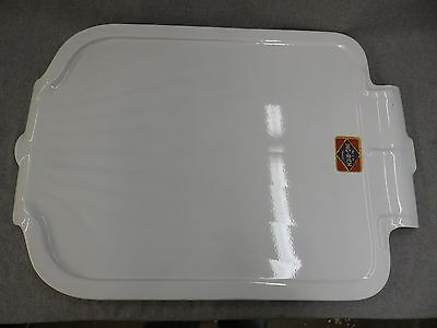 Vtg Steel White Porcelain Sink Basin Cover Drainboard Old Kitchen 1622-16