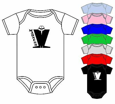 Madness Babygrow Onesie Vest Ska Suggs Specials Music Band Asst Colours 0-18 New