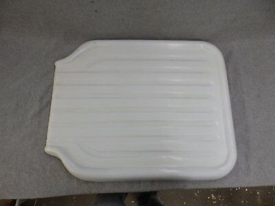 Antique Cast Iron White Porcelain Sink Extention Drainboard Old Vtg 1623-16