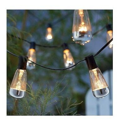Smith & Hawken 10 Metallic Tip bulb OUTDOOR PATIO PARTY STRING LIGHTS