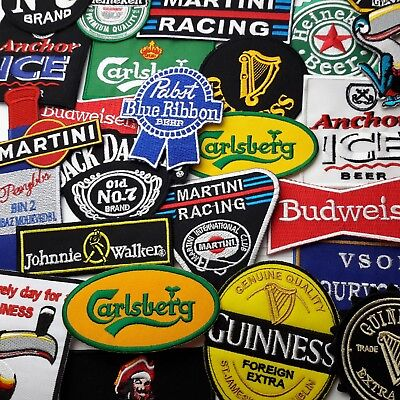 BEER, LAGER & SPIRITS - Any Patch £1.95, Iron-On, Free 1st Class Post, UK