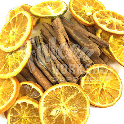 8cm SCENTED CHRISTMAS CINNAMON STICKS & ORANGE SLICES - CRAFT WREATH DECORATION
