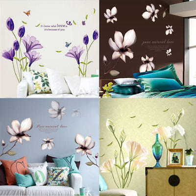 Removable Flower Home Living Room Mural Decor Art Vinyl Decal DIY Wall Sticker