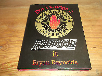 Book Rudge It Don't Trudge Rudge-Whitworth Coventry Reynolds Signed Motorcycle