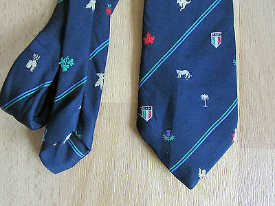 Various NATIONS Logo's RUGBY Union Tie - SEE PICTURES