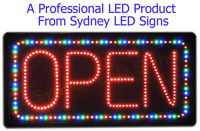 Animated LED NEON Motion Flash Open Sign  For Business  SIZE: 71cm x 33cm