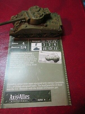 Axis and Allies 1939-45 Canadian Tank Sherman VC-17 Pounder Rare