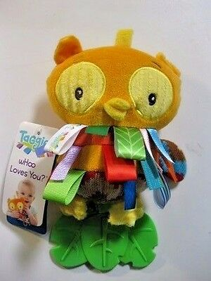 NEW Taggies wHoo Loves You Teether, Owl Age 0m+ 9 Inches Long FREE SHIPPING