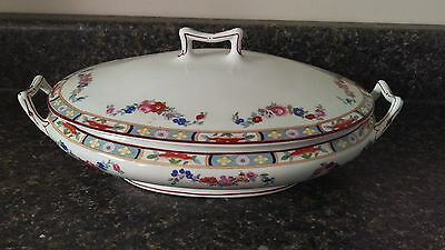 """JG Meakin Richmond Oval Vegetable Bowl With Lid - 11 3/8"""""""