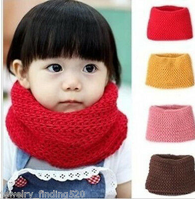 New Baby Winter Muffler Warm Scarf Boys Girls Knitted O Ring Knitting Kids Neck