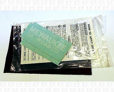 Walthers HO Decals Milwaukee Road Gondola White 43-32A