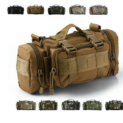 Outdoor Military Tactical Waist Pack Shoulder Bag Molle Camping Hiking BackpacgQ