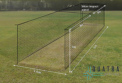 Cricket Practice Cage Net : 1-piece DELUXE Training Cage Netting W/ Curtain