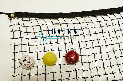 Cricket Practice Net / Sports Barrier Netting  3m x 3m with Tie Rope & Edging