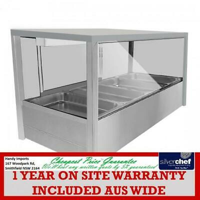 Fed Commercial Heated Wet Six ½ Pan Bain Marie Suqare Countertop Display Bm11Sd