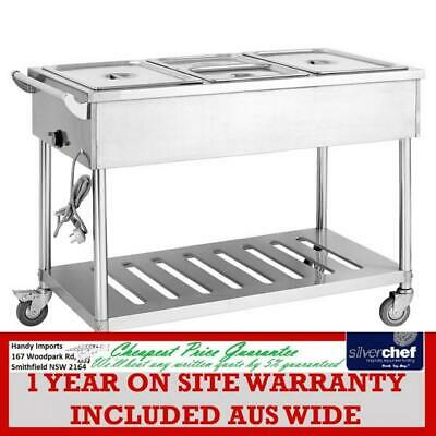Fed Commercial Four Gn Pan Heated Food Service Cart Mobile Event Servery Bmt4H