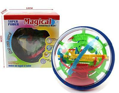 100 Barriers 3D Labyrinth Magic Intellect Ball Balance Maze Perplexus Puzzle Toy