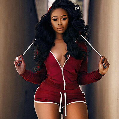 2Pcs Fashion Women Tracksuit Jumpsuit Sweatshirt + Shorts Sport Wear Casual Suit
