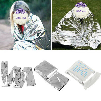 Silver Waterproof Emergency Tent Folding Rescue Thermal Space 2pcs Blanket Cover