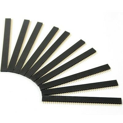 10PCS 40Pin 2.54mm Single Row Straight Female Pin Header Strip PBC Arduino