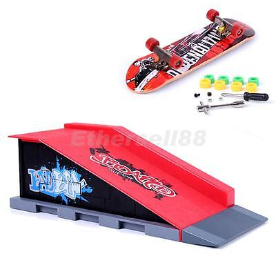Mini Finger Skateboard Toy w/ Stunt Ramp Accessory Boy Kids Children Gift B#