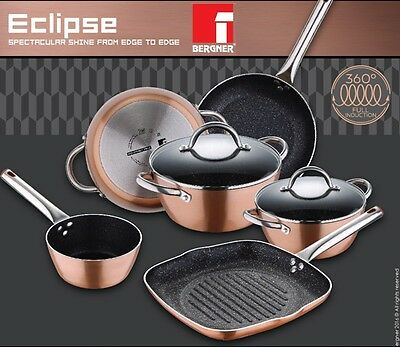 Bergner Copper Pans Pots Full Induction with Non Stick By Xylan By Whitford