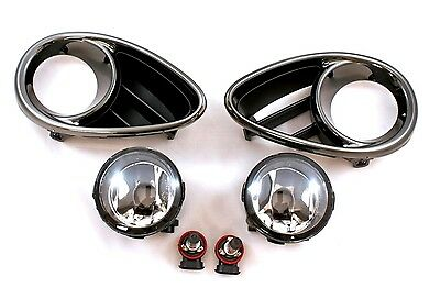 Front Smoke Bezels with Fog Lights set for Infiniti Qx 70 Fx 30d 35 37 50 09-