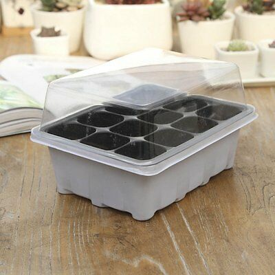 newc 12 Cells New Useful Durable Hole Plant Seeds Grow Box Tray Propagation Case