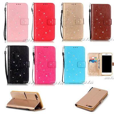 IIDA for iPhone 7/Plus blinking PU leather wallet case stand flip carrying folio