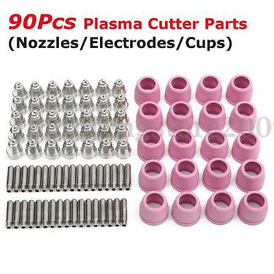 90PCS SG-55 AG-60 Plasma Cutter Torch Tips Electrode Consumables Kit for WSD-60P