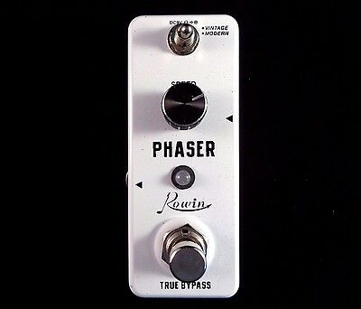 Rowin Lef-313  2 In 1 Mini Phaser Guitar Effects Pedal With True By-Pass
