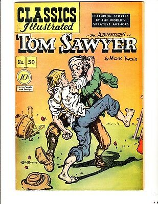 Classics Illustrated 50 (1948): Tom Sawyer: Original: FREE to combine: Good/VG