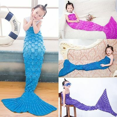 Childrens Kids Girls Scale Mermaid Tail Sofa Blanket blankets 4 colours