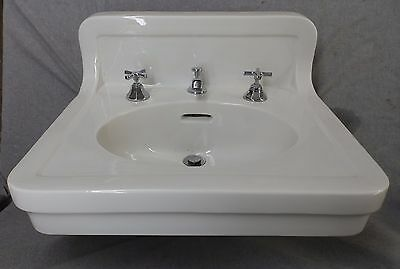 Antique White Porcelain Ceramic Bathroom Sink Trenton Pottery Plumbing 1633-16